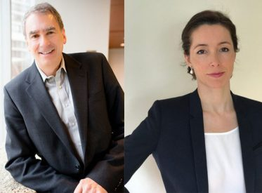 Sonepar Canada's CFO Charles Smith (left) will retire and be succeeded by Karin Lejay (right)