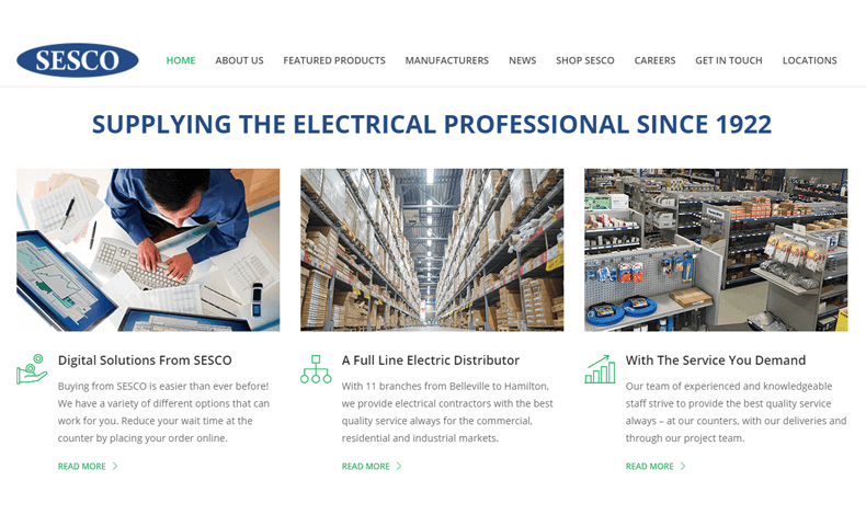 SESCO's New Website