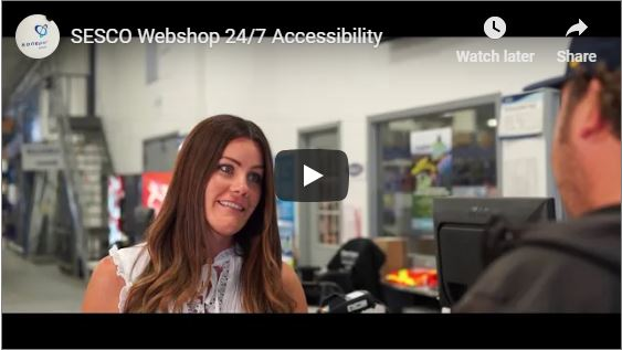 SESCO Webshop 24/7 Accessibility